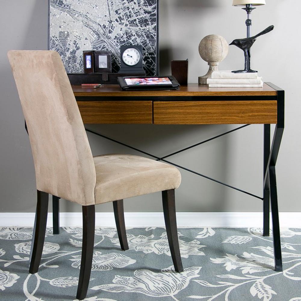 Baxton Studio New Semester Modern Medium Brown Finished Wood Desk 28862-5389-HD
