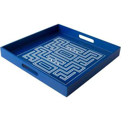 Ark Navy 15.7 in. Decorative Tray