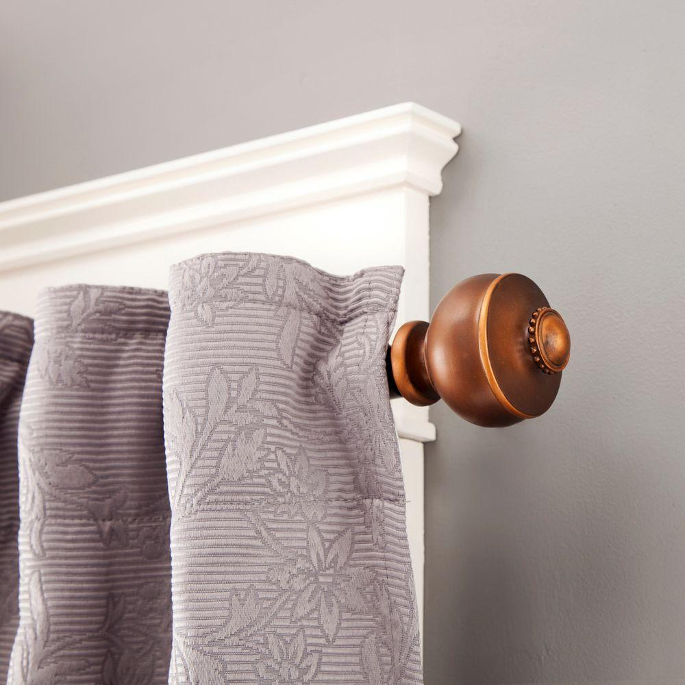 Bentley 90 130 In Adjule 3 4 Standard Decorative Window Single Curtain Rod Rustic Copper