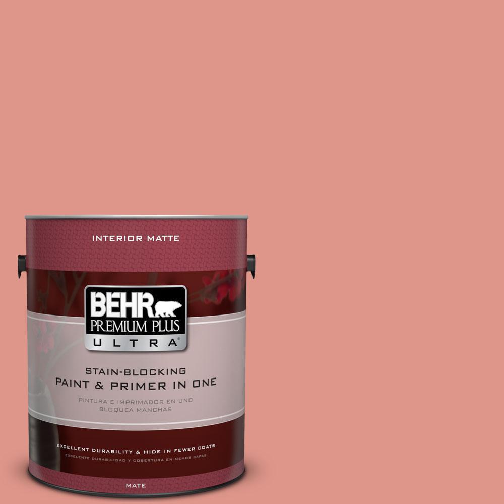 1 gal. #BIC-18 Fresh Watermelon Matte Interior Paint