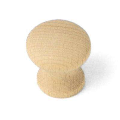 Au Natural 1-1/4 in. Wood Mushroom Cabinet Knob