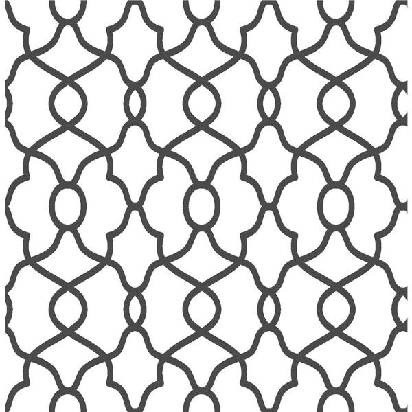 NuWallpaper 30.75 sq. ft. Black Clearly Cool Peel and Stick Wallpaper