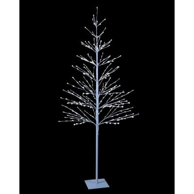 7 ft. Pre-Lit LED Northern Lights Starlit Tree with White and 308 LED Lights