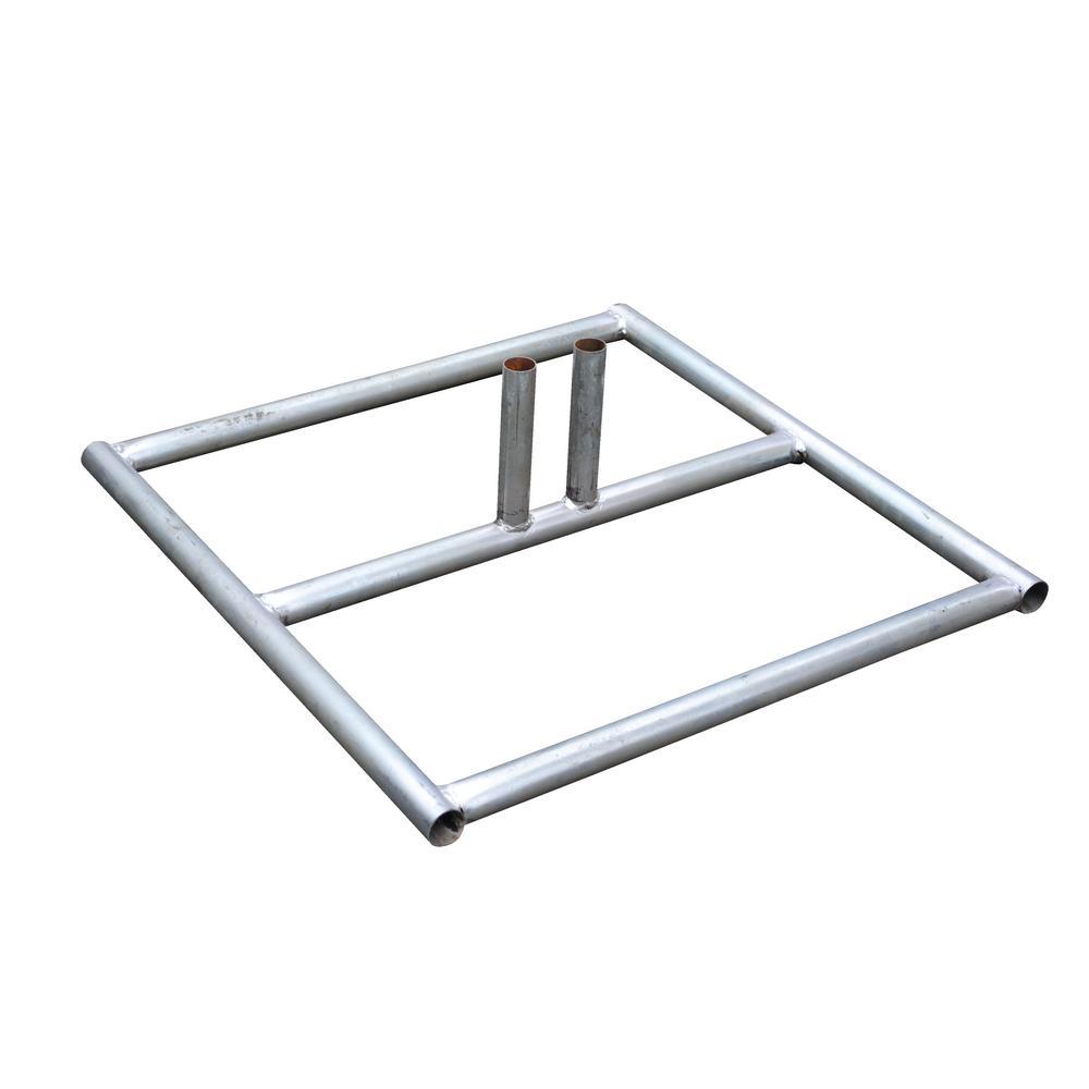 Vestil 7 In Galvanized Silver Construction Barrier Base