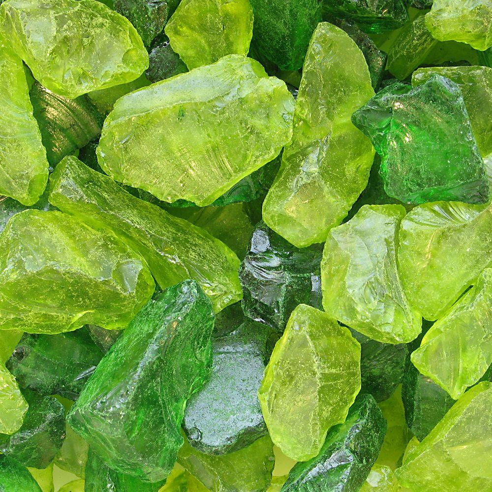 null 15 lb. Green Decorative Glass Accents