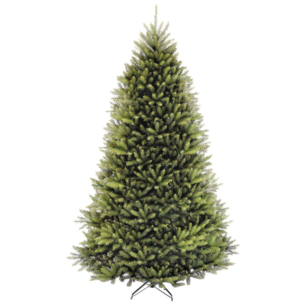 National Tree Company 9 Ft Dunhill Fir Hinged Artificial  - Artificial Christmas Tree 9 Ft