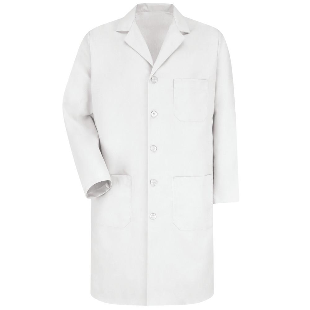 Men's Size 46 (Tall) White Lab Coat