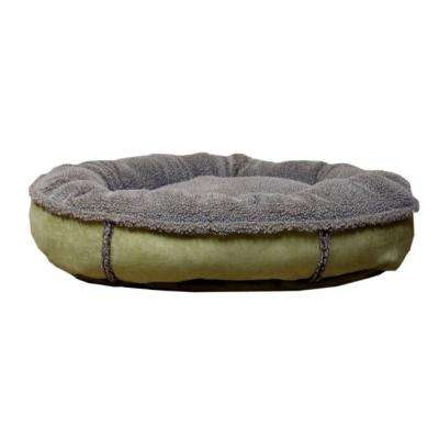 Large Sage Faux Suede and Tipped Berber Round Comfy Cup
