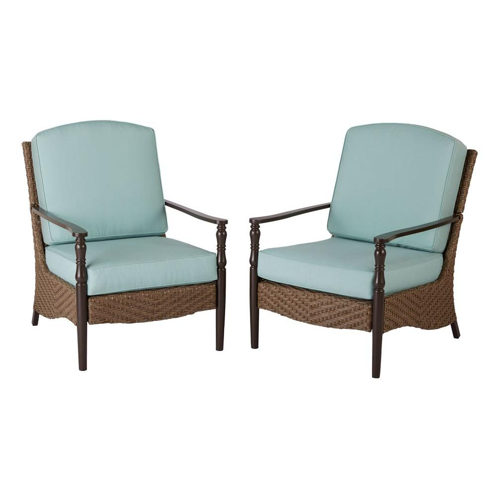 Home Decorators Collection Bolingbrook Lounge Wicker Outdoor Patio Chair  (2 Pack)