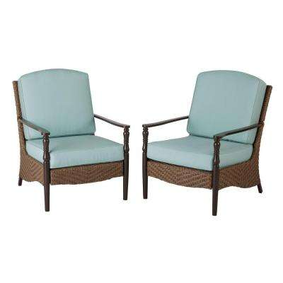 Bolingbrook Lounge Wicker Outdoor Patio Chair (2-Pack)