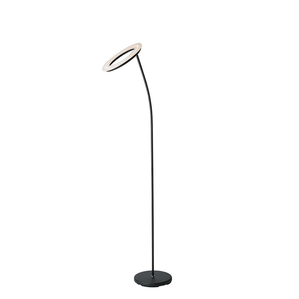 ORE International 19 in. Matte Black LED Halo Torchiere Floor  Lamp-KTL-19BK - The Home Depot