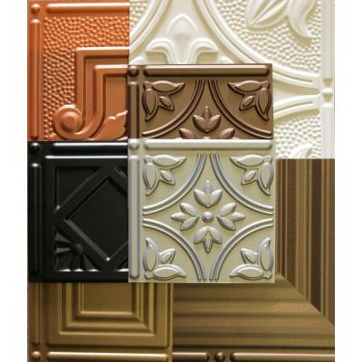Dimensions 1 ft. x 1 ft. Glue Up Tin Ceiling Tile in Assorted Colors