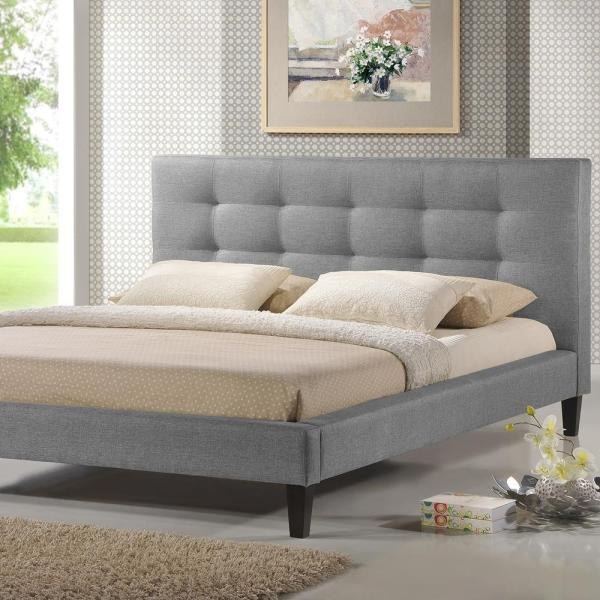Quincy Gray King Upholstered Bed