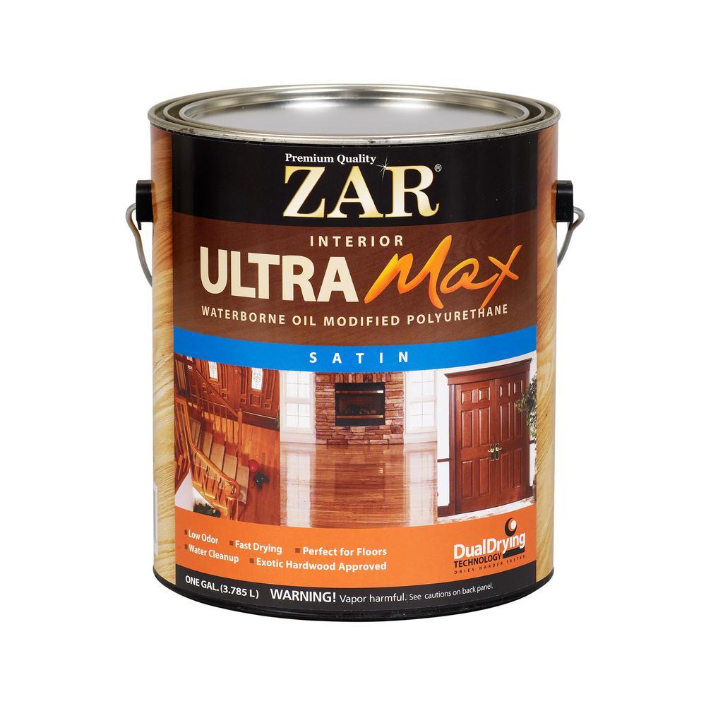 ZAR 1 Gal. Satin Ultra Max Waterborne Oil-Modified Interior Polyurethane