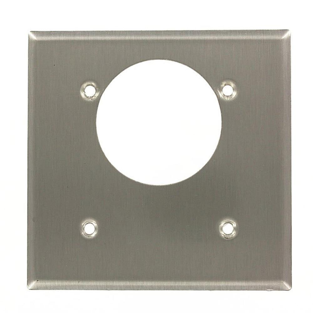 2-Gang 2.15 in. Offset Dia Hole, Standard Size Power Outlet Wall