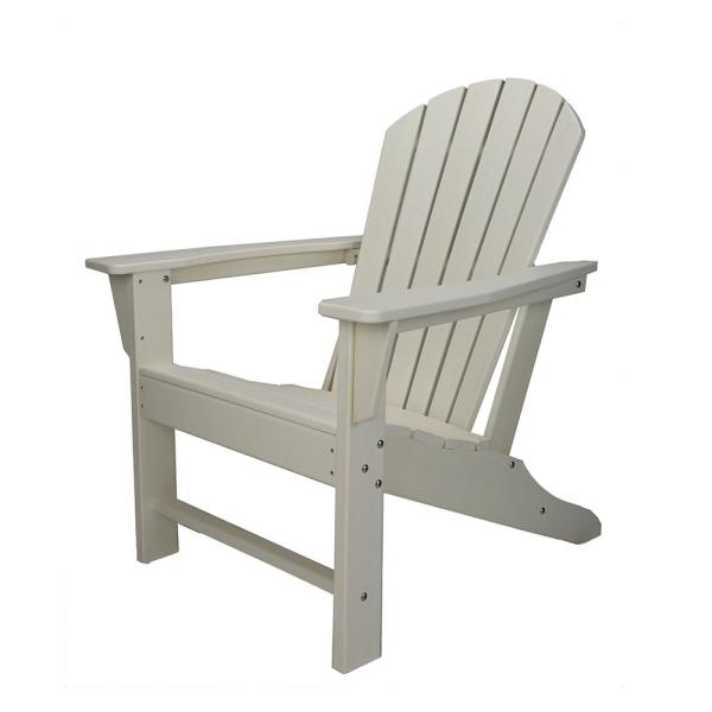 Sunny White Plastic Adirondack Chair