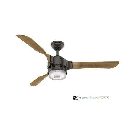 Apache Wifi Enabled Apple HomeKit/Google Home/Alexa 54 in. Indoor Noble Bronze Ceiling Fan with Light Kit and Remote