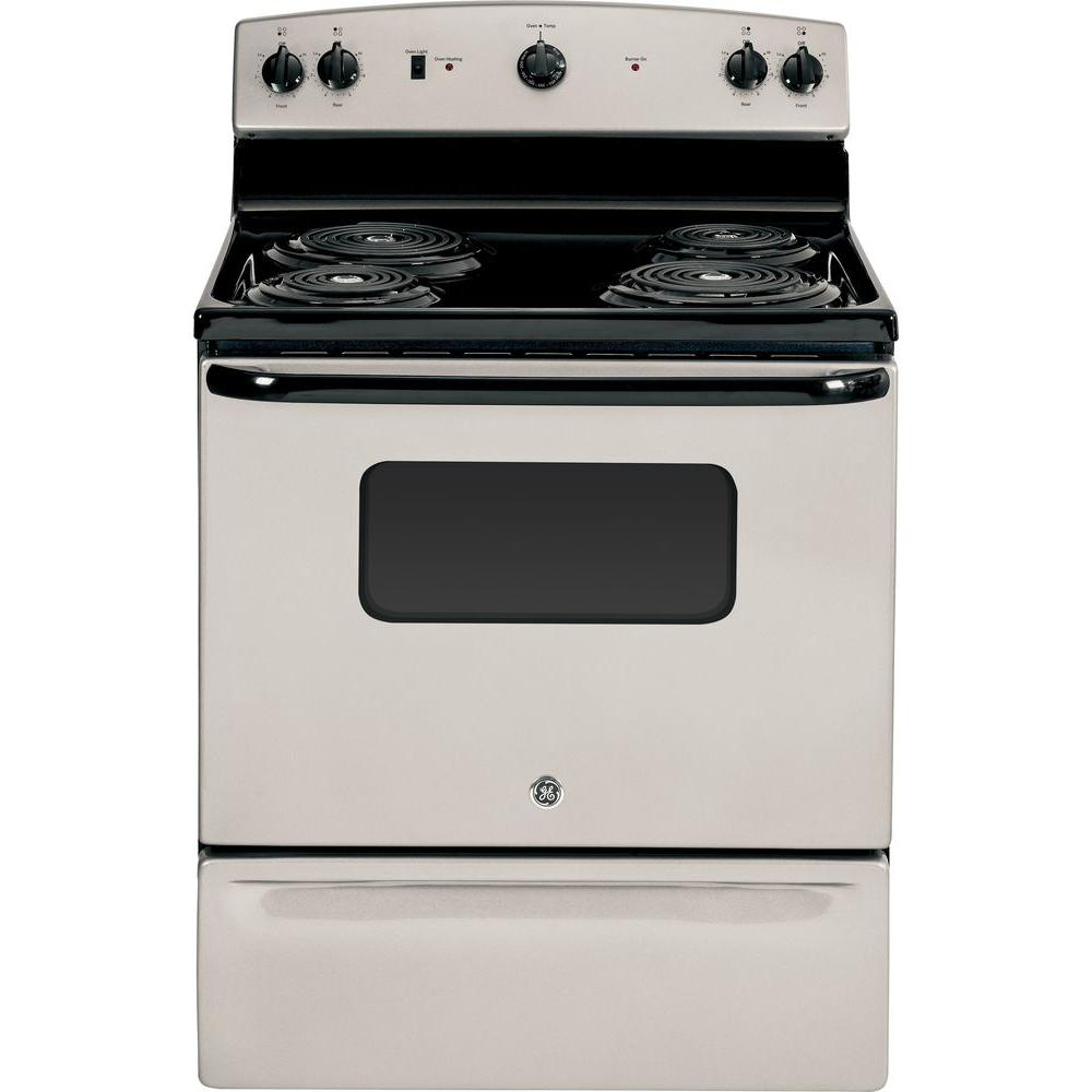 Electric Range In Silver