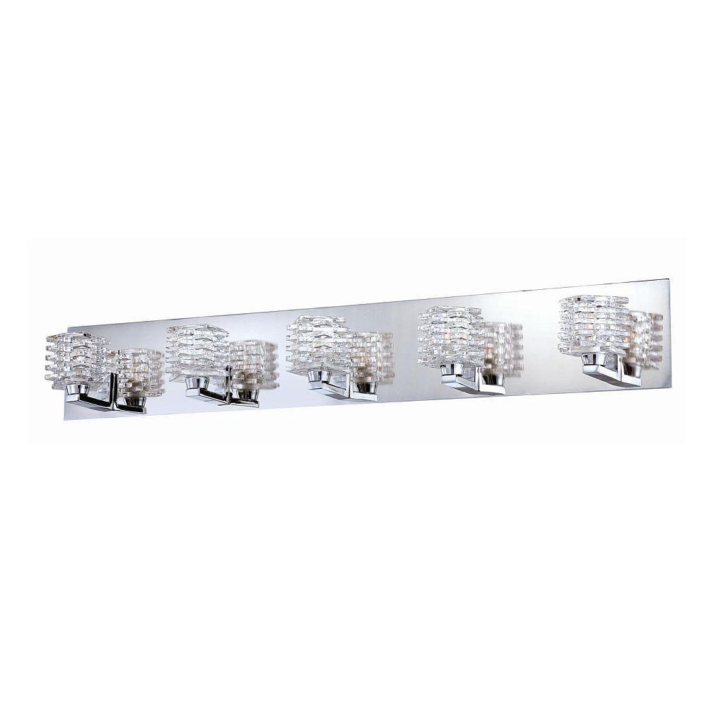 null Lenza Collection 5-Light Chrome Bath Bar