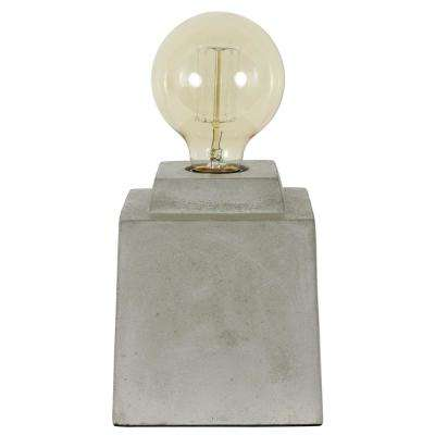 Enzo 5.5 in. Square Concrete Gray Uplight Lamp