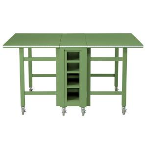 Martha Stewart Living Craft Space 6 Ft. Collapsible Wood Craft Table In  Rhododendron Leaf 0795000600   The Home Depot