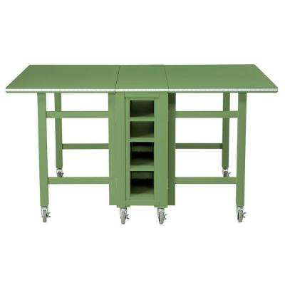 Craft Space 6 ft. Collapsible Wood Craft Table in Rhododendron Leaf