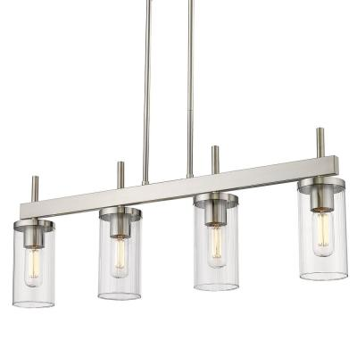 Winslett 4-Light Pewter Linear Pendant