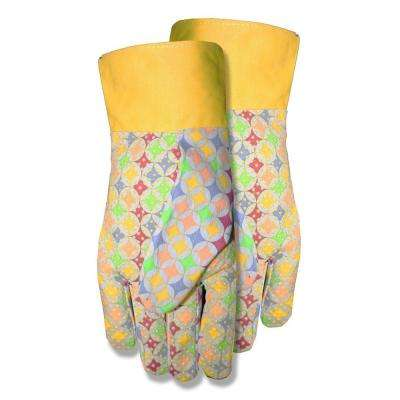 Ladies Canvas W/Dots Gloves