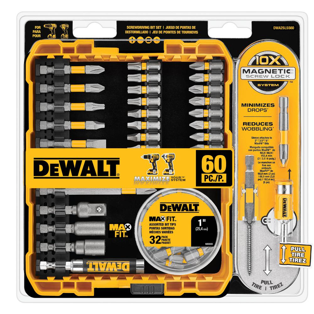 MAXFIT Screwdriving Bit Set (60-Piece)