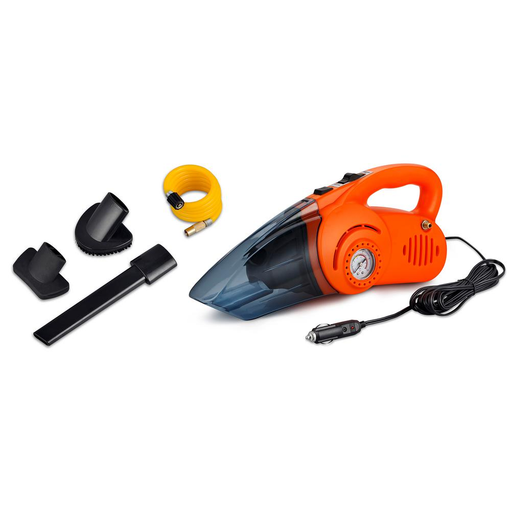 Portable Air Compressor and Car Vacuum Cleaner (2-Pack)