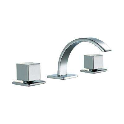 AB1326-PC 8 in. Widespread 2-Handle Luxury Bathroom Faucet in Polished Chrome