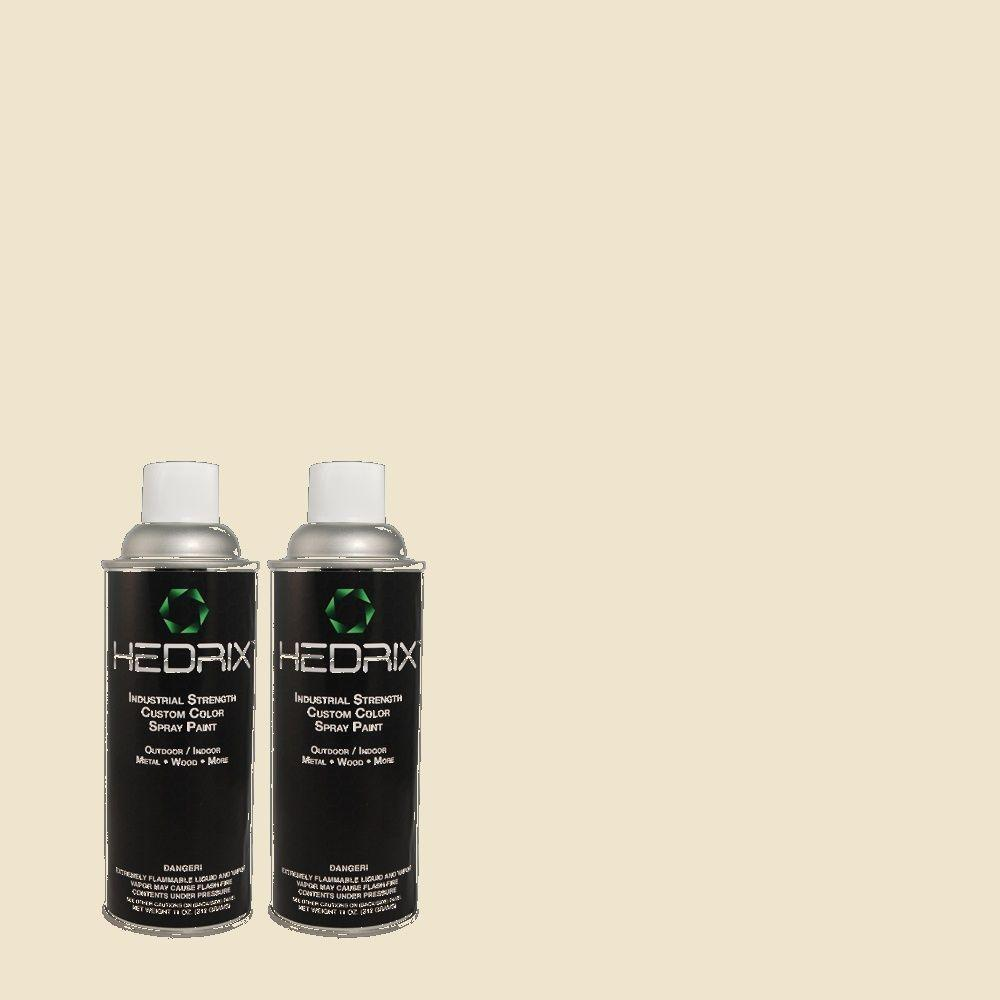 Hedrix 11 oz. Match of X-73 Eggshell White Flat Custom Spray Paint (2-Pack)