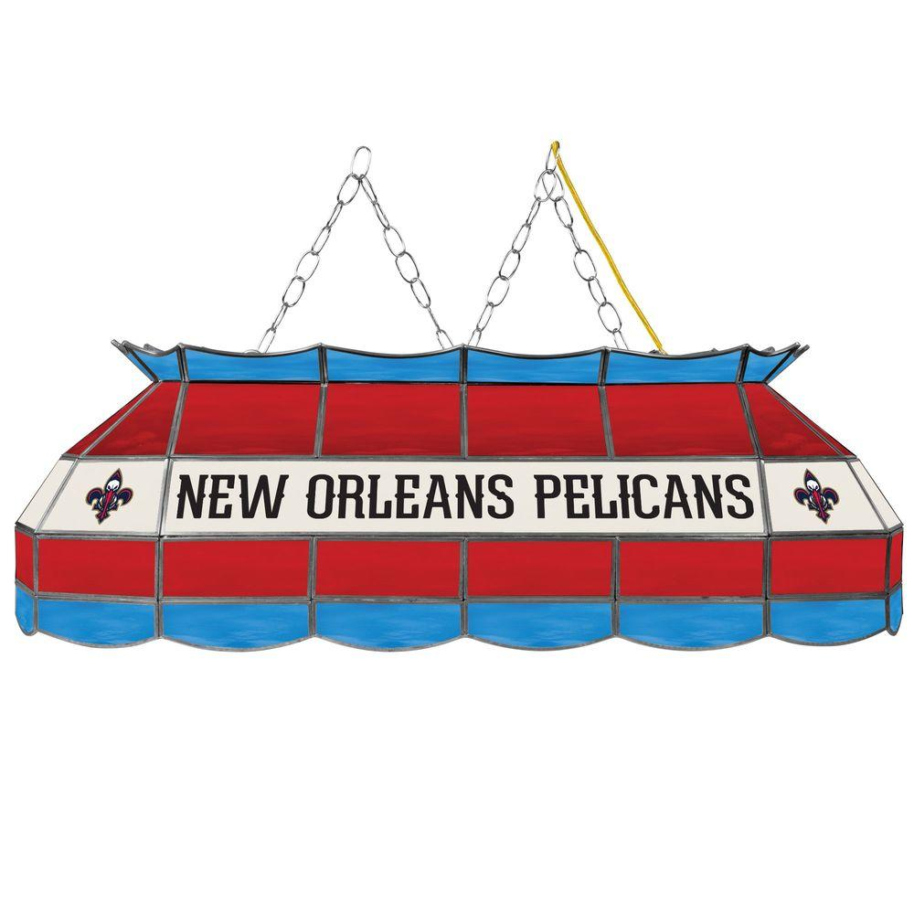 New Orleans Pelicans NBA 3 Light Stained Glass Tiffany Style Lamp