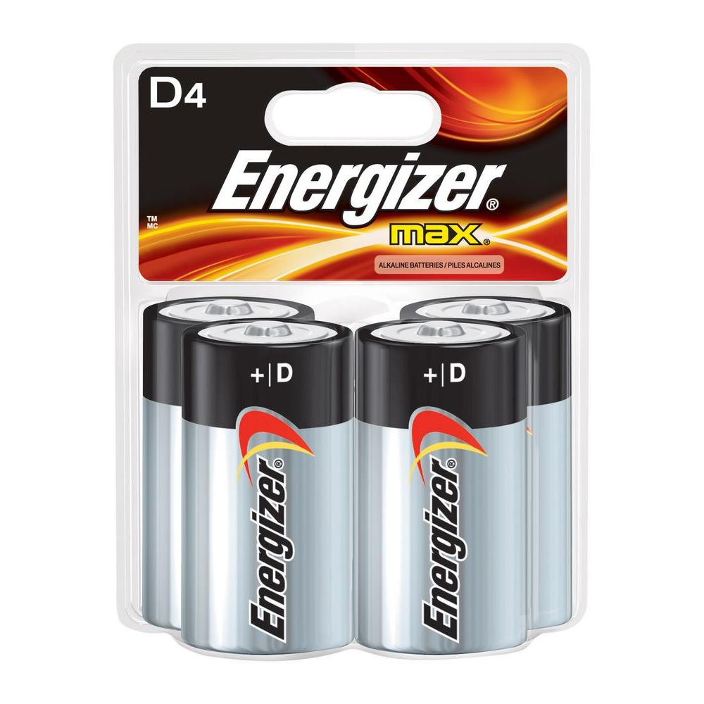 Energizer MAX Alkaline D Battery (4-Pack)
