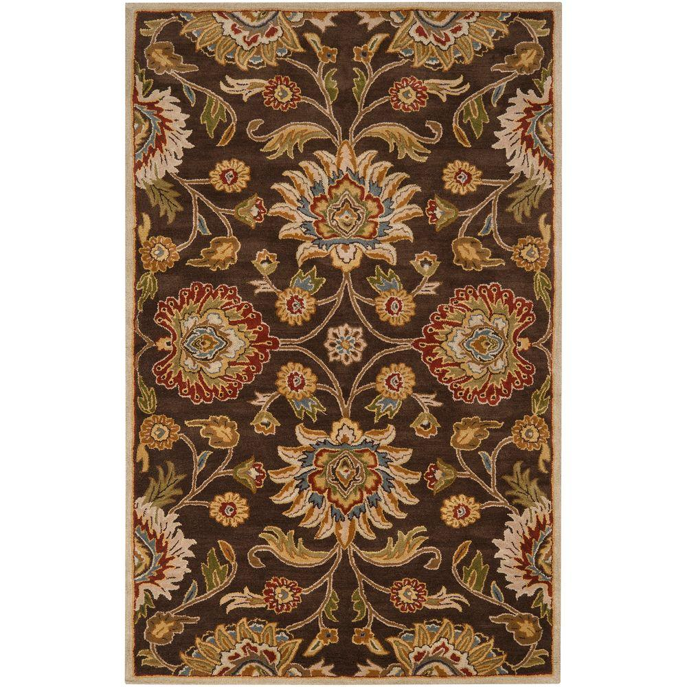 Artistic Weavers Artes Chocolate 6 ft. x 9 ft. Area Rug