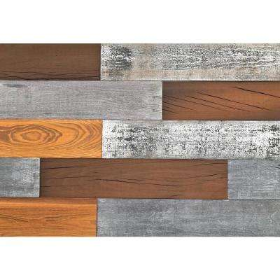 1/4 in. x 5 in. x 2 ft. Mixed Color Reclaimed Easy Paneling 3D Barn Wood Wall Plank (Design 5) (12 – Case)
