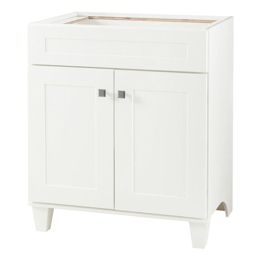 Home Decorators Collection Creeley 30 In W Bath Vanity Cabinet Only In  Classic White19evsdb30  The Home Depot