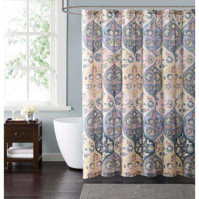 Justine Ogee 72 in. Neutral Shower Curtain