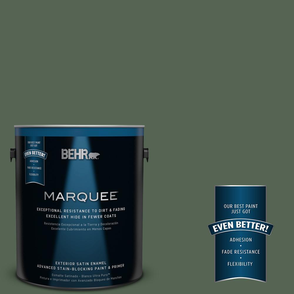 BEHR MARQUEE 1-gal. #PPU11-19 Lakeside Pine Satin Enamel Exterior Paint