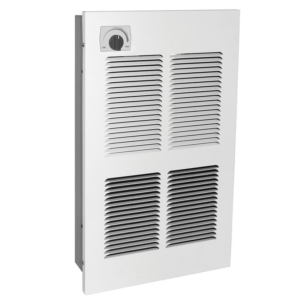EFW Multi-Watt LG 240-Volt 4000-Watt Wall Heater in White with SP Stat in White