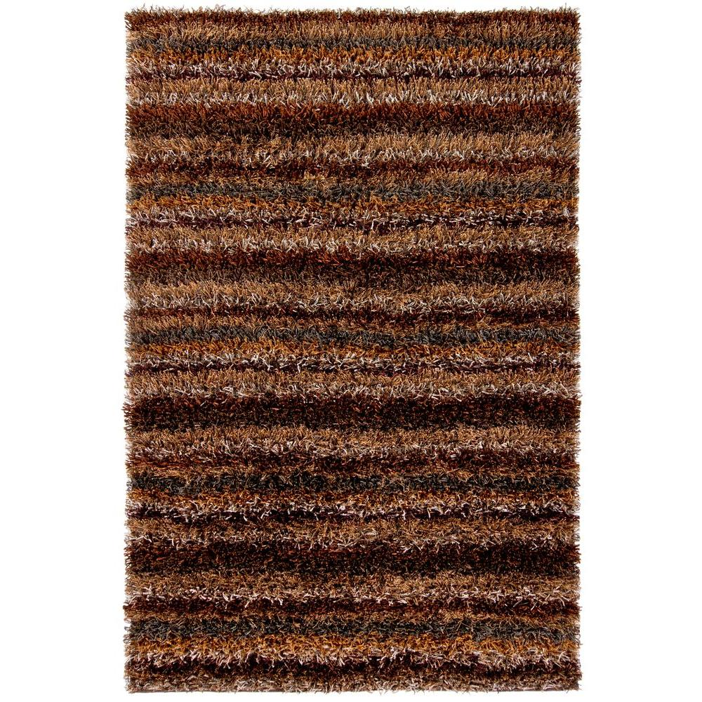 Chandra kubu brown grey tan 8 ft x 11 ft indoor area rug for Grey and tan rug