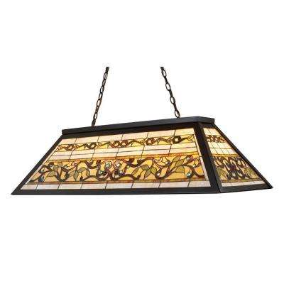 Tiffany Buckingham 4-Light Ceiling Mount Tiffany Bronze Island Light