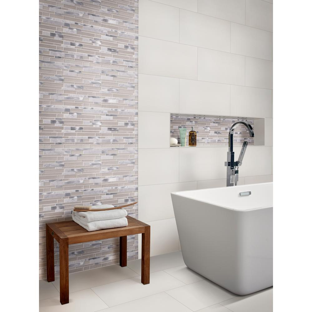 Msi White 12 In X 24 Polished Porcelain Floor And Wall Tile 16 Sq Ft Case