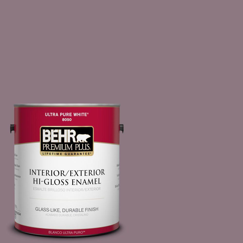 1-gal. #BNC-20 Purple Rubiate Hi-Gloss Enamel Interior/Exterior Paint