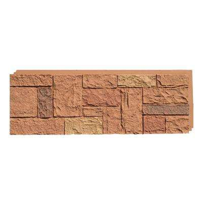 Castle Rock Canterbury Red 15 in. x 43 in. Faux Stone Siding Panel (4-Pack)