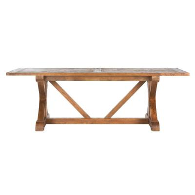 Cane Bark Rectangular Dining Table