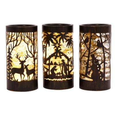 7.75 in. Assorted Water Globe Lanterns (Set of 3)