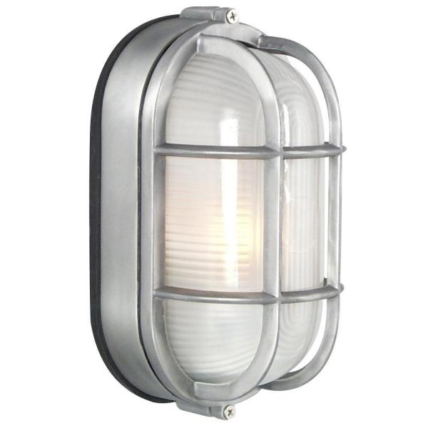 Negron 1-Light Outdoor Satin Aluminum Wall Light