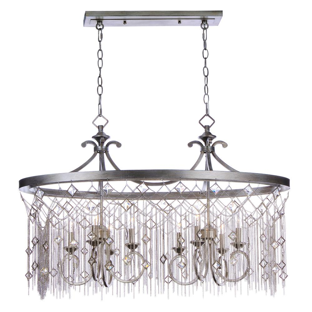 Maxim Lighting Alessandra 8-Light Silver Chandelier Maxim Lighting's commitment to both the residential lighting and the home building industries will assure you a product line focused on your lighting needs. With Maxim Lighting accessories you will find quality product that is well designed, well priced and readily available. Maxim has fixtures in a variety of styles and a strong presence in the energy-efficient lighting industry, Maxim Lighting is the clear choice for quality lighting.
