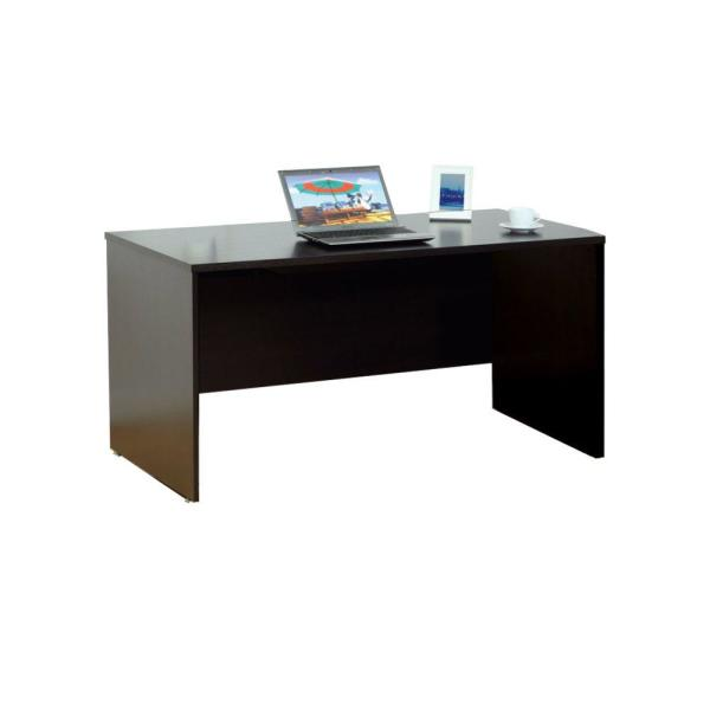 Urbane 60 in. W Dark Brown Wooden Computer and Writing Desk